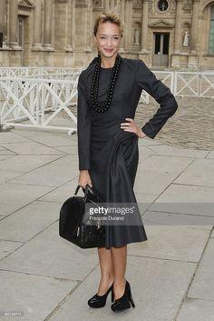 Photo d'actualité : Helene de Fougerolles arrives to attend the Louis...