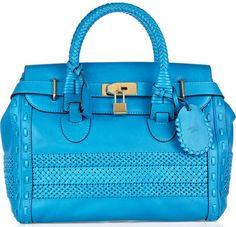 83cae0e2fa Gucci Woven-Paneled Leather Tote Gucci Handbags