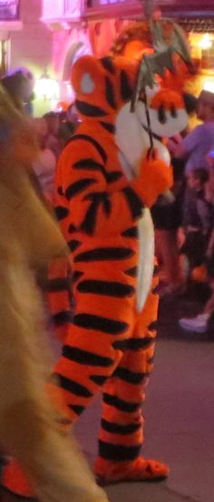 Tigger in the Boo to You parade at Mickey's Not So Scary Halloween Party in the Magic Kingdom at Disney World.  For more party tips & informaton, see: http://www.buildabettermousetrip.com/mickeys-not-so-scary-halloween-party-tips