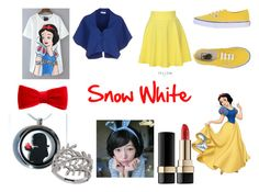 """Disney Snow White Closet Cosplay"" by thecrystalheart on Polyvore featuring Vionnet, QNIGIRLS, Vans, claire's, Lafonn, Clair Beauty and Dolce&Gabbana"