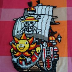 Thousand Sunny - One Piece hama beads by katiedisaster