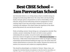 Iam Parevartan School is a co-ed day primary school is stratified among one among st the forthcoming CBSE School.