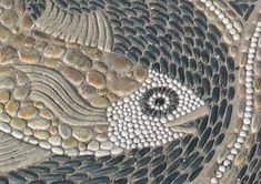 25 Adorable Pebble Mosaics To Add Whimsy To Your Garden # # Mosaic Rocks, Mosaic Stepping Stones, Pebble Mosaic, Wood Mosaic, Pebble Art, Mosaic Glass, Mosaic Tiles, Pebble Color, Pebble Stone