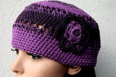 Chapeaux · Crochet retro beanie pure wool and cashmere by KazamarieDesigns,  €35.00 Serre Tête, Createur ae65d749f1f
