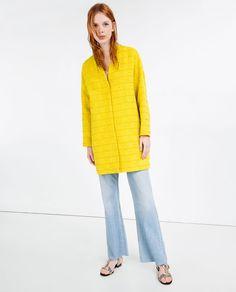 Image 1 of JACQUARD HERRINGBONE COAT from Zara