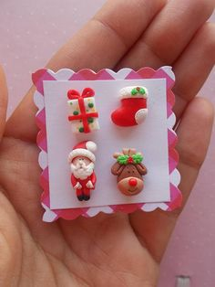 Christmas Earrings Christmas Earrings Santa Earrings