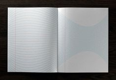 inspiration note pad; the pages change each spread.