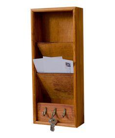 Look at this #zulilyfind! Pine Letter Rack by home basics #zulilyfinds