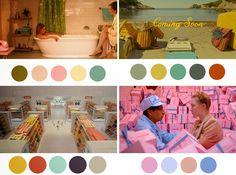 Wes Anderson paleta de colores