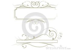 Ornamental borders for designs and decoration.