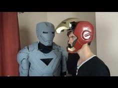 XRobots - Wireless Iron Man Suit Helmet Motorized Faceplate using PICAXE Microcontroller Electronics