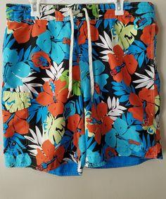 466aa6450d023 Mens Xl Lanesboro Swim Trunks Board Shorts Blue Tropical Vacation  #Lanesboro #BoardShorts