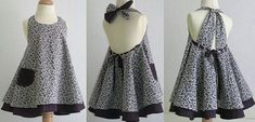 Ready-made pattern of a children's dress-sundress for ages from 1 year to 14 years old (Sewing and cutting) - Inspiration magazine Needlewoman Fashion Kids, Girls Fashion Clothes, Little Girl Fashion, Toddler Fashion, Kids Dress Clothes, Little Girl Dresses, Girls Dresses, Baby Girl Dress Patterns, Frocks For Girls