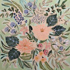Fine Art Textiles, Words On Canvas, Trending Art, Floral Prints, Art Prints, Flower Images, Flower Art, Abstract Flowers, Pretty Art