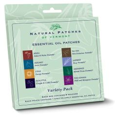 Natural Patches Of Vermont 00183 Variety Pack Essential Oil Body Patches, 8-Count by Natural Patches of Vermont, http://www.amazon.com/dp/B003U9N8KW/ref=cm_sw_r_pi_dp_oumUqb0CQZ8SK/191-3018476-0499357