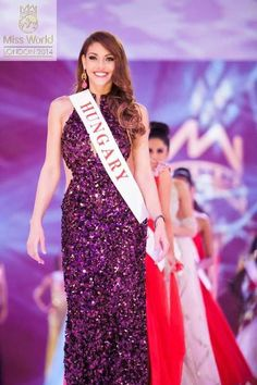 Edina Kulcsar | via Facebook ✿. ☻. ☺. ☻ Miss World, Beauty Pageant, Gowns, Facebook, Formal Dresses, Celebrities, Fashion, Vestidos, Dresses For Formal