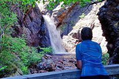 Corner Brook Falls in Corner Brook Gorge, Newfoundland
