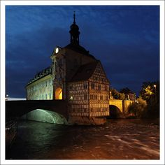 Altes Rathaus, built in the middle of Regnitz River, Bamberg, Germany