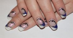 White and Purple french - Nail Art Gallery