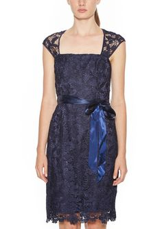 On ideel: ADRIANNA PAPELL Cap Sleeve Lace Cocktail Dress