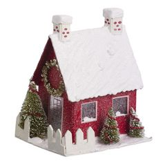 christmas glitter houses - Google Search
