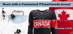 Score with a customized #TeamCanada jersey! Starting at $129. Olympics Crosby Goal.