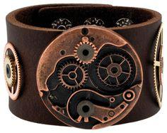 Image de Bracelet CUIR - Steampunk Mecanisme