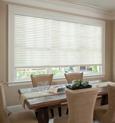 Redecorating your dining room for the holidays? Protect your hard work with premium quality wood blinds and block out that afternoon sun!