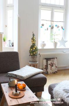 Deko Ideen I DIY Ideen: Deko Ideen für Weihnachten, Wohnzimmer skandinavisch einrichten, X Mas Ideen Weitere tolle DIY Ideen, Deko und Basteltipps findet ihr unter: www.homemadebypatricia.de