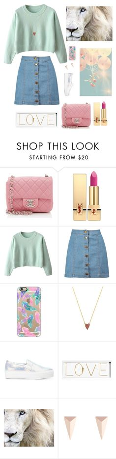 """""""#134"""" by ayappa ❤ liked on Polyvore featuring Chanel, Yves Saint Laurent, Boohoo, Casetify, Jennifer Meyer Jewelry, Joshua's, Oliver Gal Artist Co. and Alexis Bittar"""