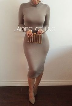 2015 New Brand Long party dresses High collar Sexy bandage Bottoming Women Dress Casual Dress vestido de festa Sexy Dresses, Casual Dresses For Women, Dress Casual, Party Dresses, Passion For Fashion, Love Fashion, Autumn Fashion, Fashion Styles, Dress Fashion