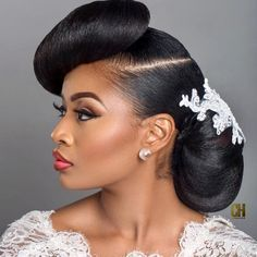 Black Wedding Hairstyles 2016 White - 37 & do& wedding hairdos African Natural Hairstyles, African American Hairstyles, Afro Hairstyles, Celebrity Hairstyles, Natural Wedding Hairstyles, Natural Hair Updo, Natural Hair Styles, Natural Makeup, Bridesmaid Hairstyles