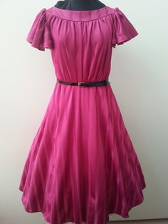 1950's style Vintage Retro Raspberry Pink by HappyDaysClothing