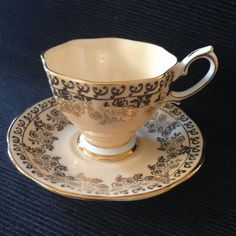 Royal Albert Peach with Gold Filigree