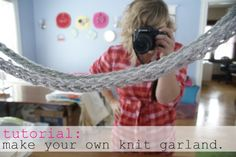 Finger knitting tutorial.  I remember doing this as a kid, great little project to teach my daughter when she's older.