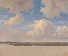 Landscape with Cumulus Clouds, Andreas Schelfhout, about 1839. The National Gallery, London. The Gere Collection, on long-term loan to the National Gallery, © Private collection 2000