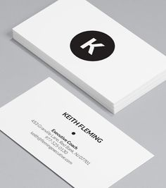 On Target: monochromatic coloring and a simple monogram design combine to make one beautifully versatile Business Card. #moocards #businesscard