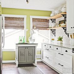 Usher in an earthy atmosphere with an organic shade of green.