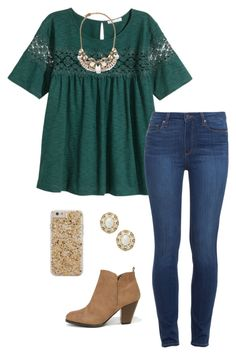 """""""fall"""" by alliweir on Polyvore featuring H&M, Paige Denim, Forever 21, Qupid, Case-Mate and Kate Spade"""