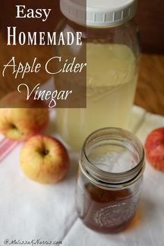 How to make easy homemade apple cider vinegar with just 2 ingredients. I can't believe how easy this was and how much money we'll save. Grab the instructions now!