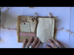 #LoveSummerArt - How to make easy no sew mini books - YouTube - great little books to put in journal pockets