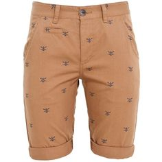Camel Anchor Print Chino Shorts ($31) via Polyvore
