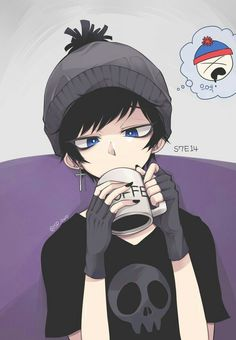 Read stan from the story south park pictures by DarkDaigo (in the middle of hibernation) with 409 reads. South Park Anime, South Park Goth Kids, Stan South Park, Tweek South Park, South Park Fanart, Craig South Park, Anime Style, Arte Emo, Character Art