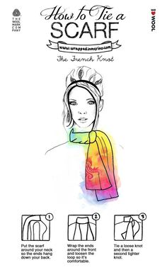 How to tie a Scarf tip 3 @WeLoveWool