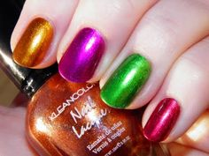Kleancolor - Mango, Fuschia, Green and Scarlet Red.