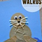 Cupcake Liner Walrus Kids Craft