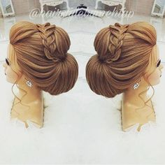 Likes, 35 Comments - Professional Hairstylist ) ( o. - - Likes, 35 Comments - Professional Hairstylist ) ( o - Formal Hairstyles, Bride Hairstyles, Cool Hairstyles, Hair Up Styles, Bridal Hair Inspiration, Peinados Pin Up, Pinterest Hair, Wedding Hair And Makeup, Bridesmaid Hair