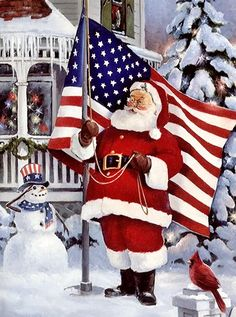 Patriotic Santa - Happy Holidays To Our Troops ♥