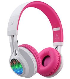 Shop for Riwbox Bluetooth Headphones, Led Lingt Up Foldable Stereo Wireless Headphones With Microphone And Volume Control For Pc/iphone/ Tv/ Ipad (pink&white). Starting from Choose from the 2 best options & compare live & historic headphone prices. Bluetooth Headphones For Tv, Girl With Headphones, Kids Headphones, Headphones With Microphone, Wireless Headset, Sports Headphones, Christmas Gifts For Boys, Wireless Security Cameras, Light Up