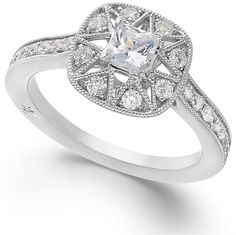Marchesa Certified Diamond Engagement Ring in 18k White Gold (7/8 ct. t.w.) on shopstyle.com